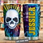 Skull Tie Dye Hippie Personalized KD2 HNL1201013Z Stainless Steel Tumbler