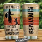 A Woman With Guitar And Her Cat Personalized KD2 HNL1201005Z Stainless Steel Tumbler