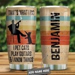 A Man With Guitar And His Cat Personalized KD2 HNL1201007Z Stainless Steel Tumbler