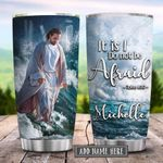 Faith Jesus Walking On Water Personalized KD2 HRX1201003Z Stainless Steel Tumbler