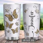 Butterfly Jewelry Metal Style Yellow Personalized KD2 HRX1201002Z Stainless Steel Tumbler