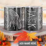 Personalized Viking Wolf Raven Metal Style HLM1201006Z Full Color Ceramic Mug