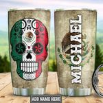 Personalized Sugar Skull Mexico DNM1201016Z Stainless Steel Tumbler