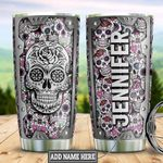 Personalized Sugar Skull Metal Style DNM1201015Z Stainless Steel Tumbler