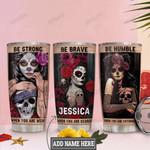 Personalized Sugar Skull Girl HLM1201014Z Stainless Steel Tumbler