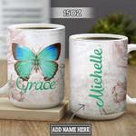 Personalized Butterfly Grace DNM1201003Z Full Color Ceramic Mug