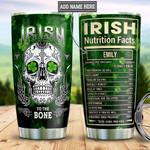 Personalized Irish Skull To The Bone DNM1201013Z Stainless Steel Tumbler