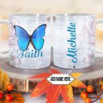 Personalized Butterfly Faith DNM1201002Z Full Color Ceramic Mug