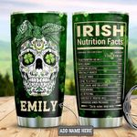Personalized Irish Skull Girl DNM1201012Z Stainless Steel Tumbler