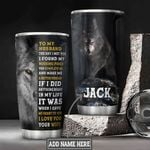 Personalized Wolf To My Husband DNM1201017Z Stainless Steel Tumbler