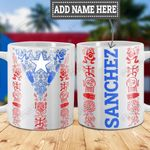 Personalized Puerto Rico Tribal Symbols HLZ1301001Z Full Color Ceramic Mug
