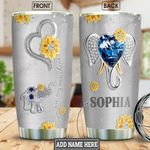 Elephant Diamond Style Personalized NNR1301008Z Stainless Steel Tumbler