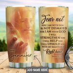 Personalized Faith Jesus Right Hand Yellow HLM1301008Z Stainless Steel Tumbler