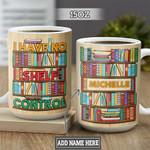 Personalized Book Lover Shelf Control DNM1301001Z Full Color Ceramic Mug