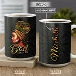Black Women Faith Personalized PYR1301001Z Full Color Ceramic Mug