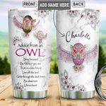 Owl Advice Jewelry Style Personalized NNR1301010Z Stainless Steel Tumbler