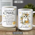 Owl Advice Personalized NNR1301002Z Full Color Ceramic Mug