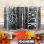 Personalized Viking Vegvisir Compass Metal Style HLM1301005Z Full Color Ceramic Mug