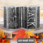 Personalized Viking Odin Wings Mjolnir Metal Style HLM1301004Z Full Color Ceramic Mug