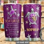 Turtle Advice Personalized NNR1301013Z Stainless Steel Tumbler