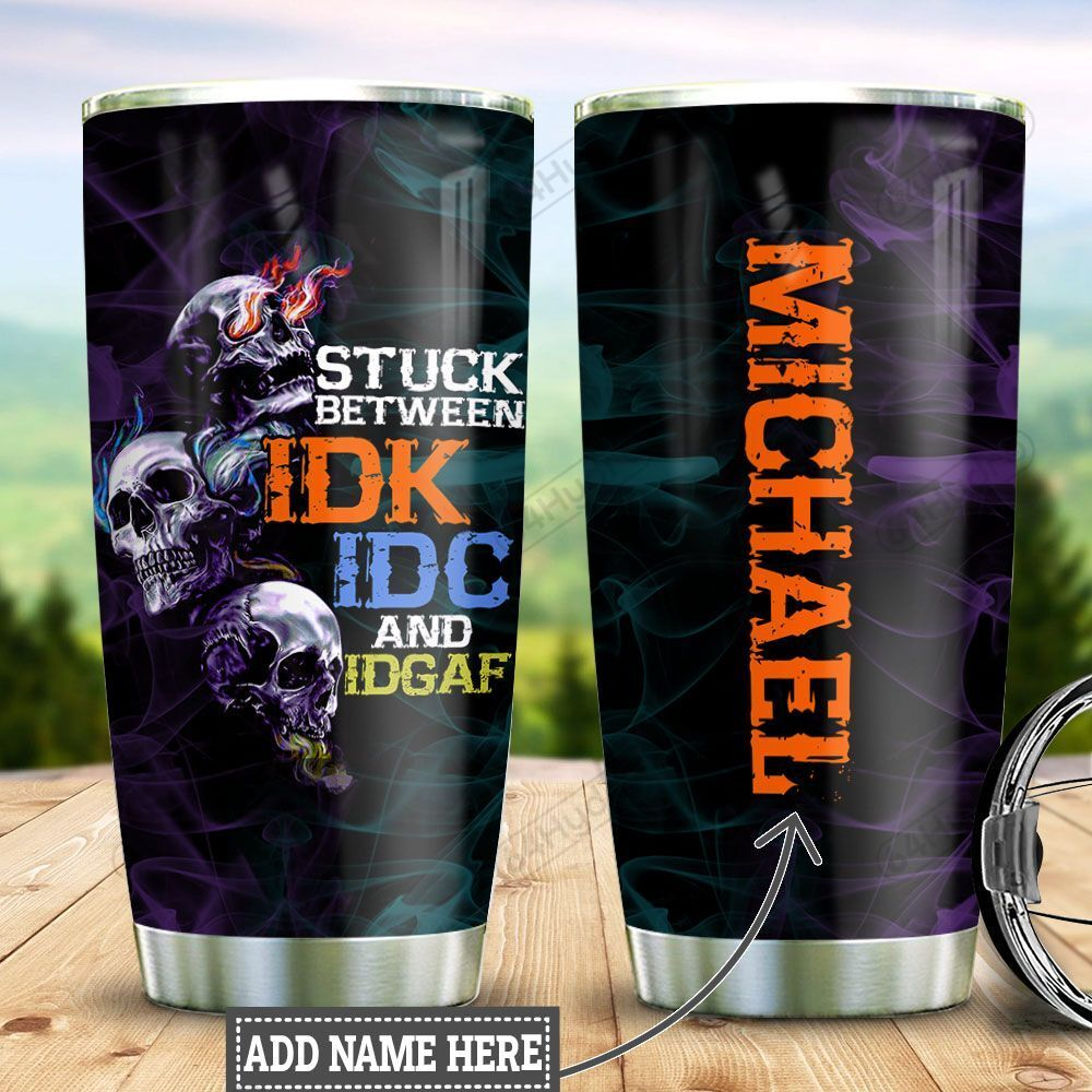Personalized Skull Stuck TTZ1301031Z Stainless Steel Tumbler