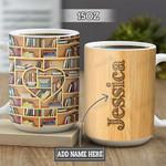 Personalized Book Lover Heart TTZ1301006Z Full Color Ceramic Mug