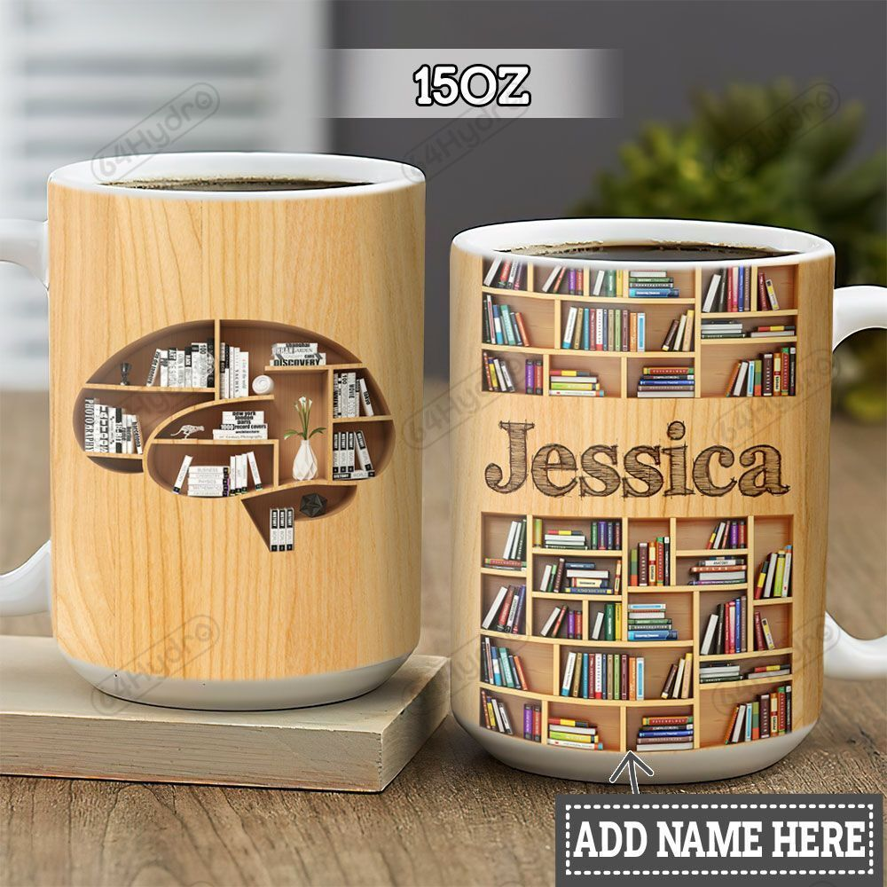 Personalized Book Lover Brain HLZ1301004Z Full Color Ceramic Mug