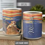 Personalized Yellow Cat TTZ1301027Z Full Color Ceramic Mug