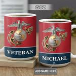 Personalized Marine Corps Veteran BGZ1301015Z Full Color Ceramic Mug