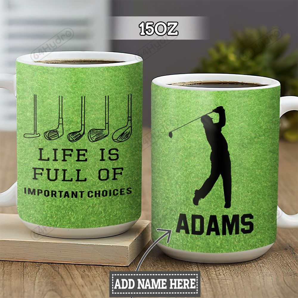 Personalized Golf Important Choices DNZ1301012Z Full Color Ceramic Mug