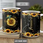 Personalized Sunflower Turtle TTZ1301023Z Full Color Ceramic Mug