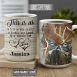 Personalized Deer Couple BGZ1301010Z Full Color Ceramic Mug