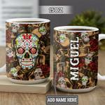 Personalized Sugar Skull DNZ1301021Z Full Color Ceramic Mug