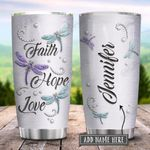 Dragonfly Faith Hope Love Jewelry Style Personalized KD2 HRX1301002Z Stainless Steel Tumbler