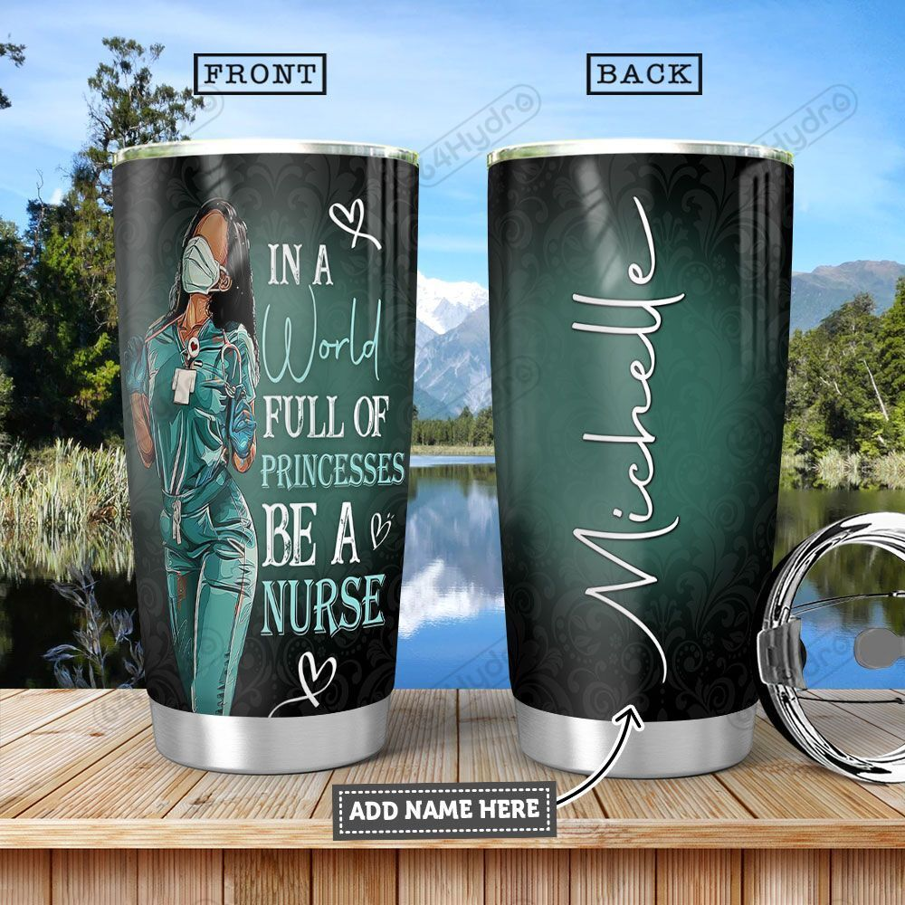 Black Nurse KD4 Personalized HHA1301002Z Stainless Steel Tumbler