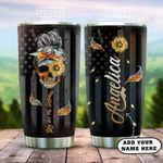 Sugar Skull Sunflower Personalized KD2 HAL1301011Z Stainless Steel Tumbler