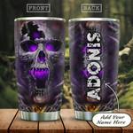 Purple Skull Personalized KD2 HAL1301010Z Stainless Steel Tumbler