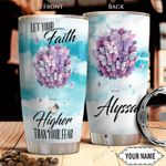 Faith Butterfly KD4 Personalized THA1301016Z Stainless Steel Tumbler