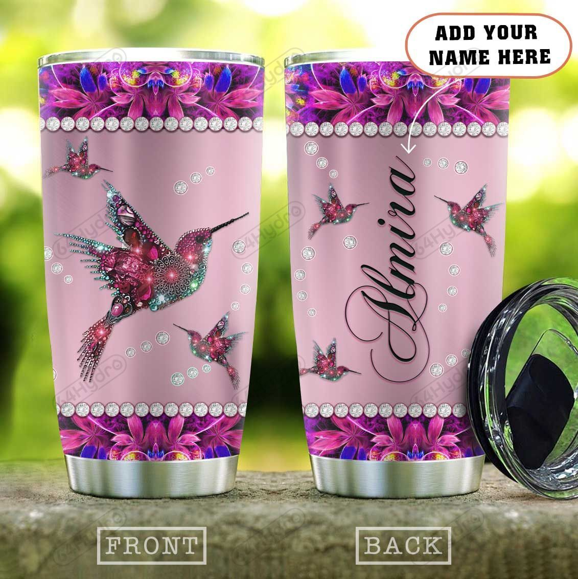 Pink Metal Style Jewelry Hummingbird Personalized KD2 HAL1301009Z Stainless Steel Tumbler