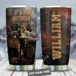 3D Us Army Veteran Personalized KD2 HNL1301002Z Stainless Steel Tumbler