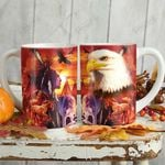 Native American Wolf And Horse KD2 HNL1301001Z Full Color Ceramic Mug