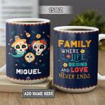 Personalized Sugar Skull Family BGZ1301035Z Full Color Ceramic Mug