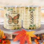 Personalized Orange Butterfly Sunshine BGZ1201007Z Full Color Ceramic Mug