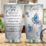 Butterfly Advice Jewelry Personalized PYR1301005Z Stainless Steel Tumbler