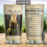 Personalized Gardening Nutrition Facts DNM1401006Z Stainless Steel Tumbler