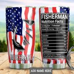 Personalized Fishing Nutrition Facts DNM1401005Z Stainless Steel Tumbler