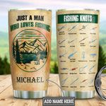 Personalized Fishing Man DNM1401004Z Stainless Steel Tumbler