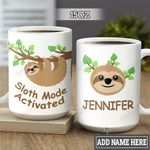 Personalized Sloth Mode HLM1401002Z Full Color Ceramic Mug