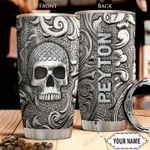 Silver Skull KD4 Personalized THA1401016Z Stainless Steel Tumbler
