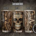 Aztec Skull KD4 Personalized HHA1401001Z Stainless Steel Tumbler